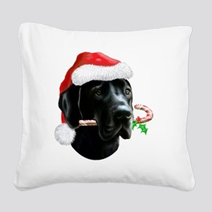 Great Dane Gullivers Christma Square Canvas Pillow