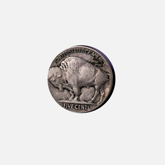Buffalo Nickel Mini Button