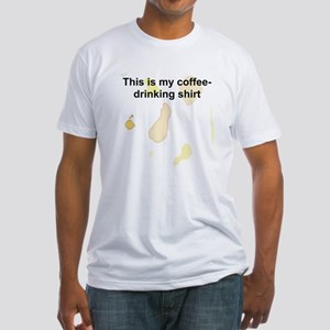 Coffee-Drinking Fitted T-Shirt