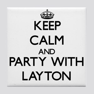 Keep Calm and Party with Layton Tile Coaster