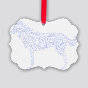 husky_text Picture Ornament