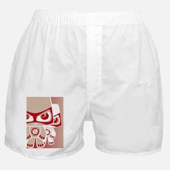 SeriousGreetCardStencilP Boxer Shorts