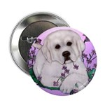 Great Pyranees Pup Button