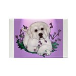 Great Pyranees Pup Rectangle Magnet (100 pack)