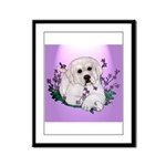 Great Pyranees Pup Framed Panel Print