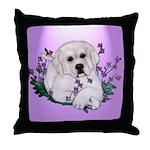 Great Pyranees Pup Throw Pillow