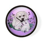 Great Pyranees Pup Wall Clock
