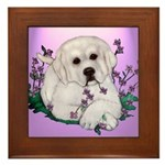 Great Pyranees Pup Framed Tile
