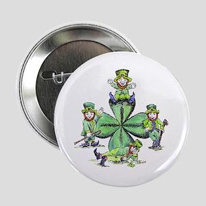 Leprechauns Hanging Out Button