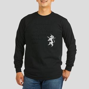 RidingAUnicorn Long Sleeve Dark T-Shirt