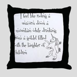 RidingAUnicorn Throw Pillow