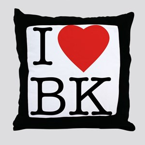 I-loveBK Throw Pillow
