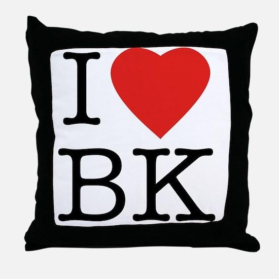 I-loveBK Throw Pillow