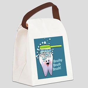 brushybrushbrush Canvas Lunch Bag