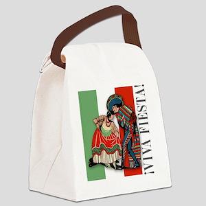 box_tile_vs2 Canvas Lunch Bag