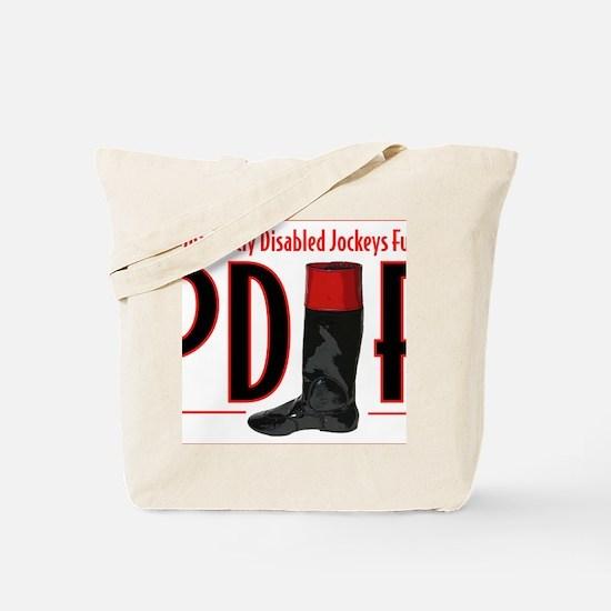 pdjf logo white backgrd Tote Bag