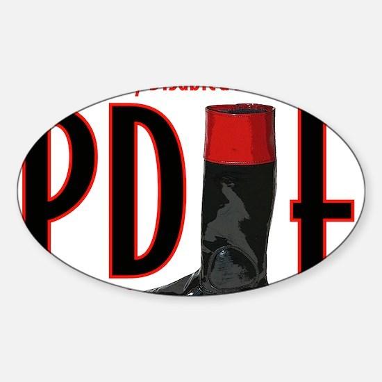 pdjf logo white backgrd Sticker (Oval)