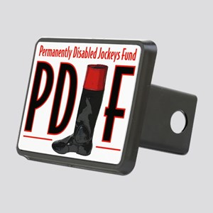 pdjf logo white backgrd Rectangular Hitch Cover