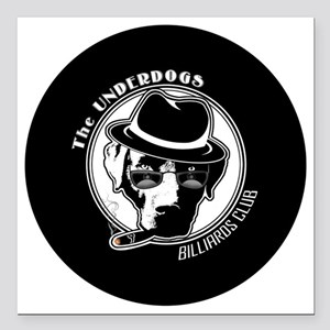 "Underdogs Round Square Car Magnet 3"" x 3"""