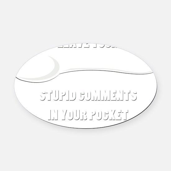 spoon1a Oval Car Magnet