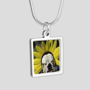BDF shirt Silver Square Necklace