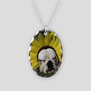 BDF shirt Necklace Oval Charm