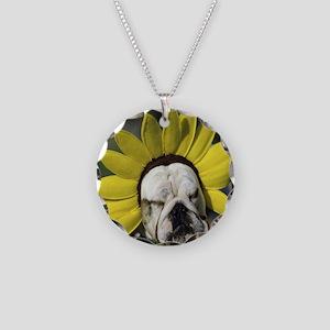BDF shirt Necklace Circle Charm