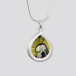 BDF shirt Silver Teardrop Necklace