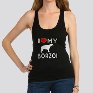 I Love My Borzoi Racerback Tank Top