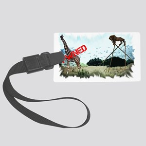 pwnedlion1 Large Luggage Tag
