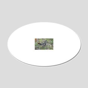 5x3oval_sticker 20x12 Oval Wall Decal