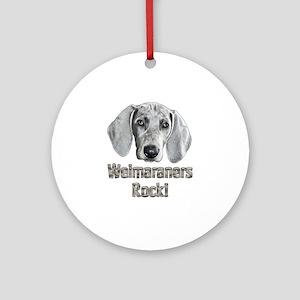 Weimaraner-Izzie Round Ornament