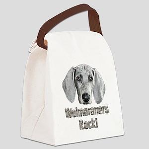 Weimaraner-Izzie Canvas Lunch Bag