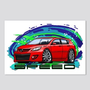07-09 Speed3_Red Postcards (Package of 8)