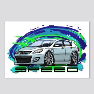 07-09 Speed3_White Postcards (Package of 8)