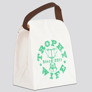 Trophy Wife 2011 green Canvas Lunch Bag