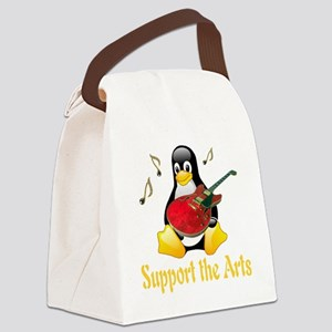 penguin_support_the_arts_transpar Canvas Lunch Bag