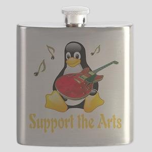 penguin_support_the_arts_transparent Flask