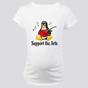 penguin_support_the_arts Maternity T-Shirt