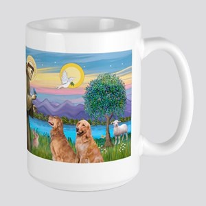 LIC-StFrancis-2 Goldens Stainless Steel Travel Mug