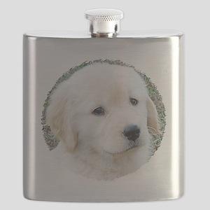 Golden Retreiver Puppy 3G iPhone Hard Case Flask