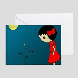 Grl.in.Rd.Dress.XMAS Greeting Card