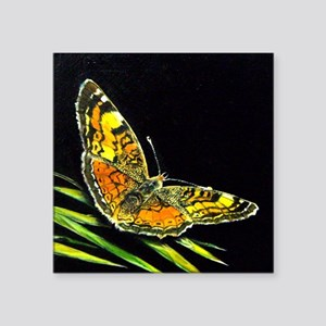 """butterfly tile Square Sticker 3"""" x 3"""""""