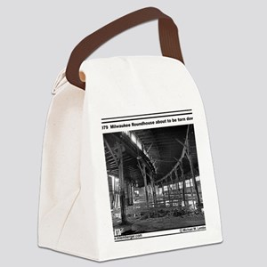 RR-Roundhouse torn - mousepad Canvas Lunch Bag
