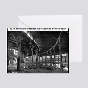 RR-Roundhouse torn - mousepad Greeting Card
