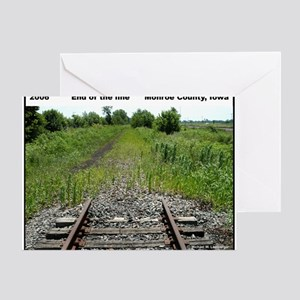 RR-End of the Line mousepad Greeting Card