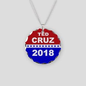 Ted Cruz Senate 2018 Necklace Circle Charm