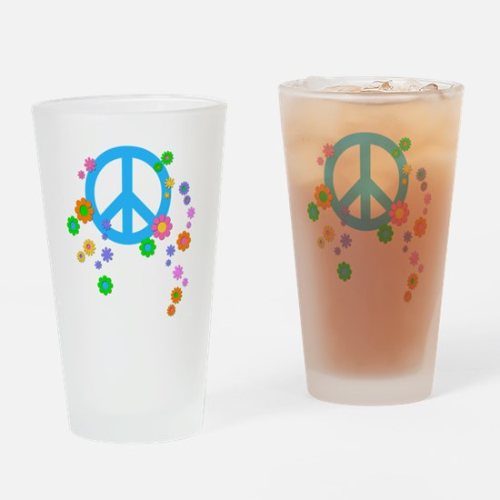 peace08-blk Drinking Glass
