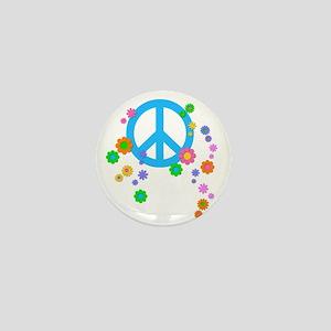 peace08-blk Mini Button