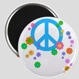 peace08-blk Magnet